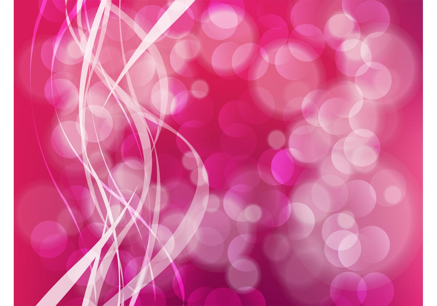Pink Abstract Free Vector Art