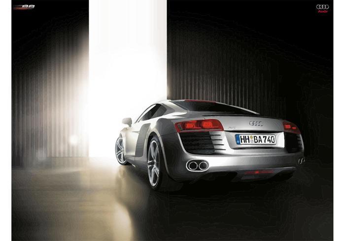 Silber Audi R8 vektor