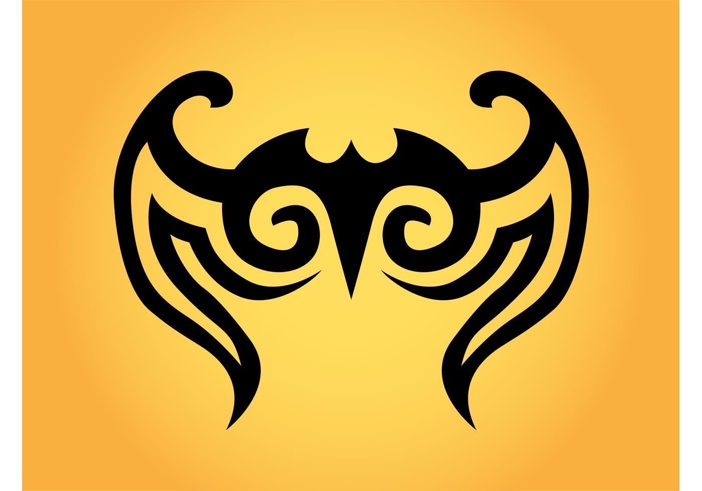 Tribal Wings Free Vector Art