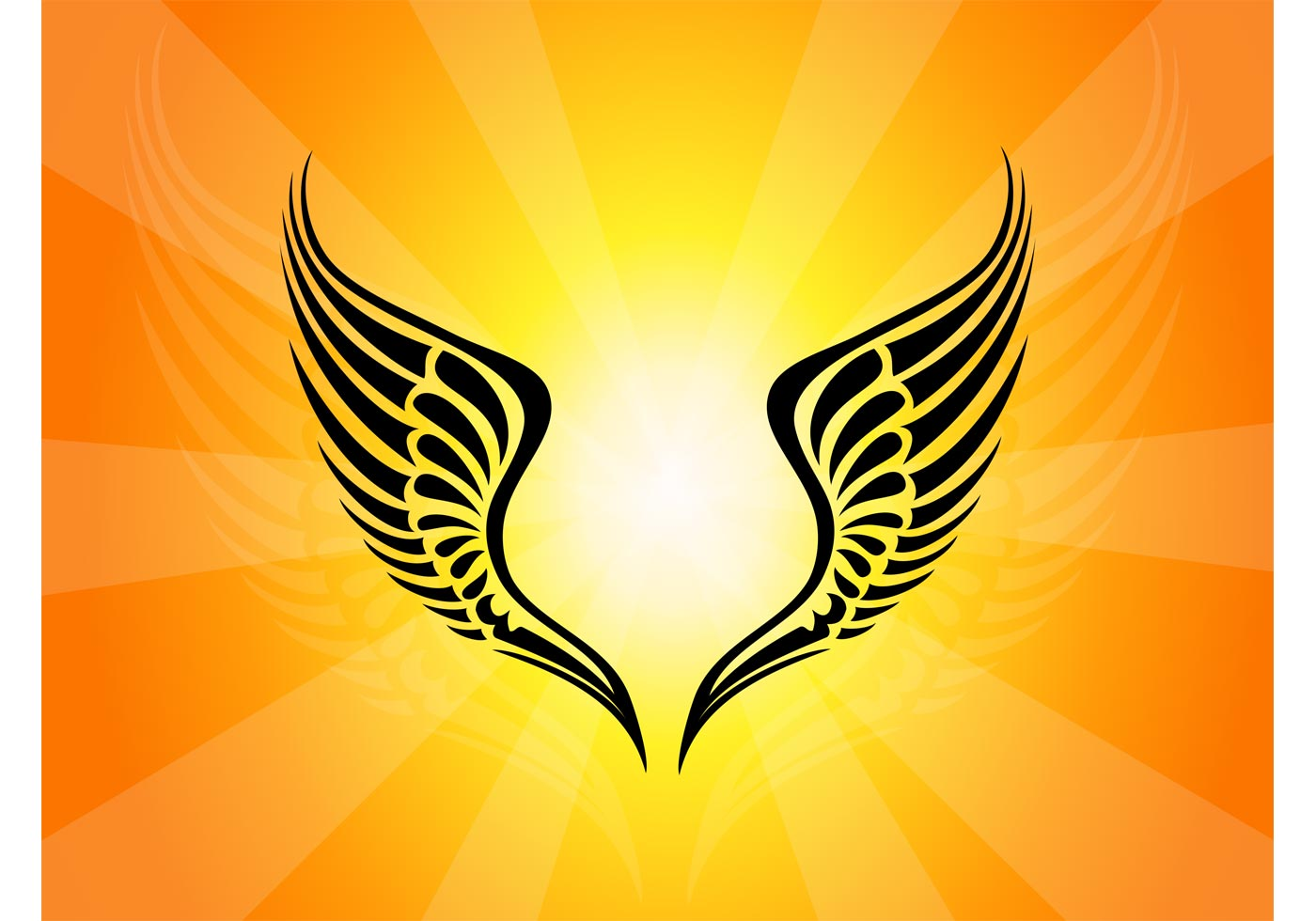 Tribal Wings Tattoo - Download Free Vector Art, Stock ...