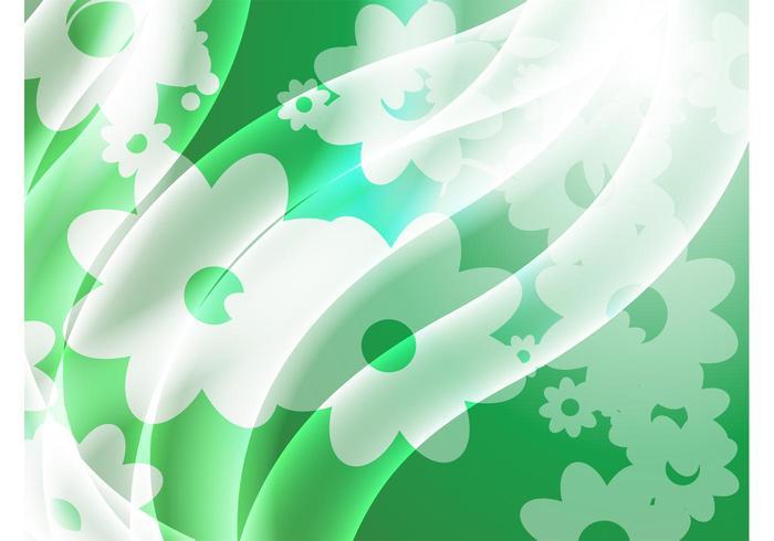 Green Satin Flowers