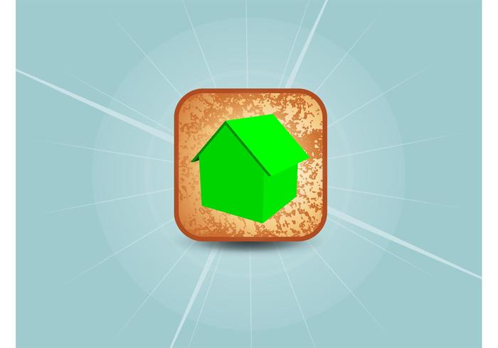 3D Home Vector Icon