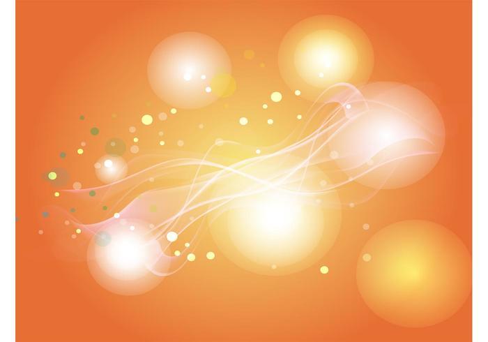 Orange Light Circles Background