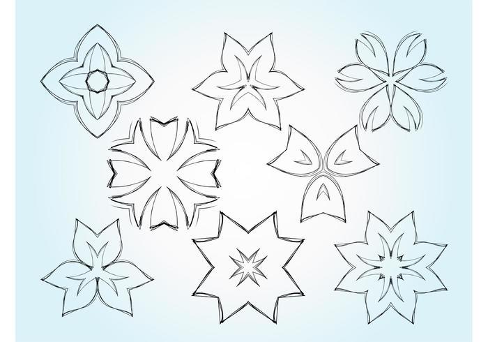 Flower Sketch Vectors
