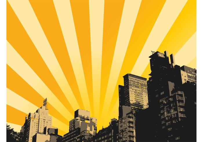 Urban Sunrise Background