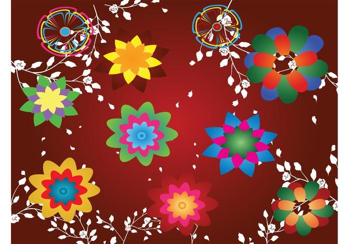 Colorful Floral Design Footage