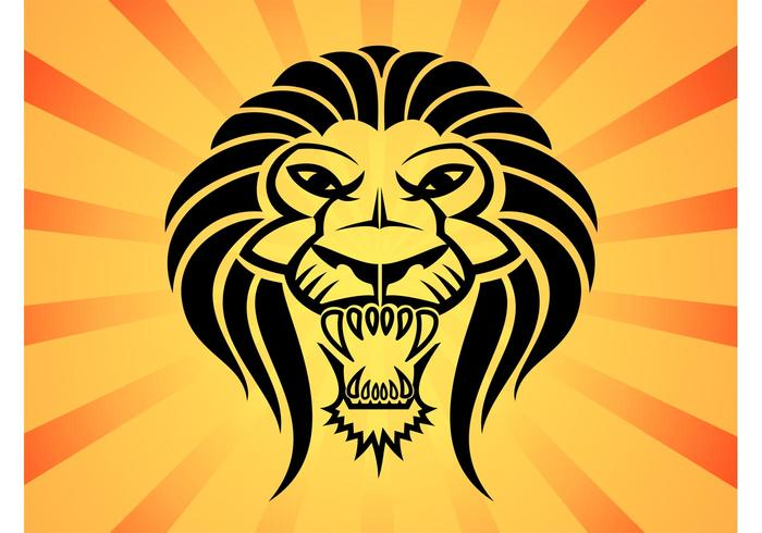 Lion Head Vector
