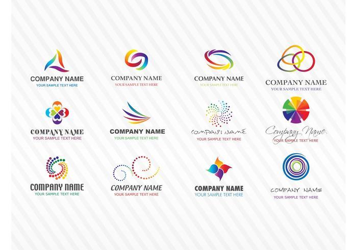 Colorful Stock Vector Logos