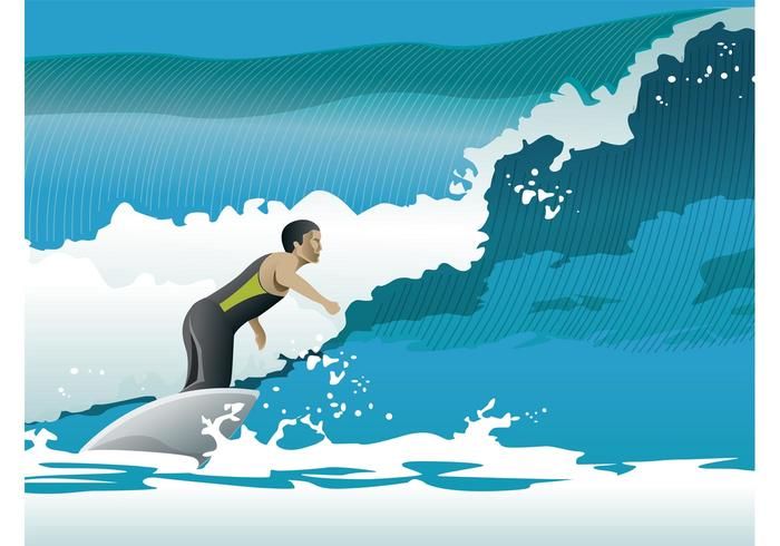 Surfer Ocean Waves Vector