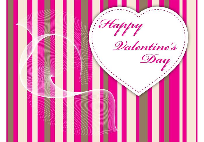 Pink Stripes Valentine Graphics