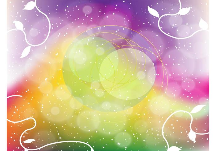 Rainbow Fantasy Vector Background