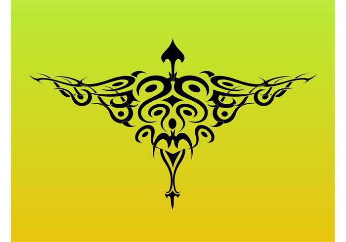 Tribal Bird Tattoo Graphics
