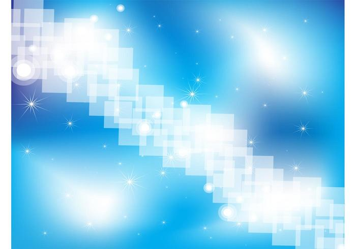 Blue Sparkling Vector Background