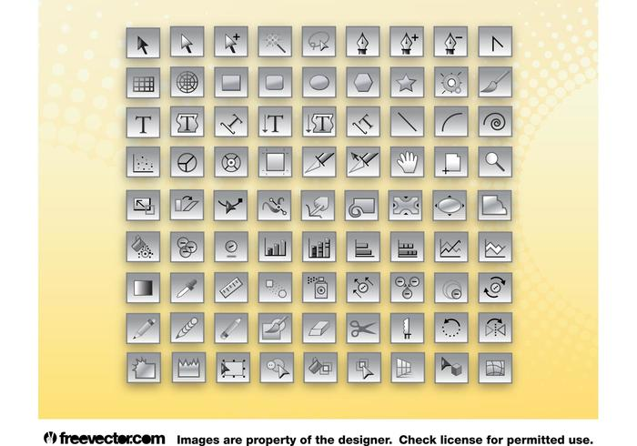Adobe Illustrator Tools Icons