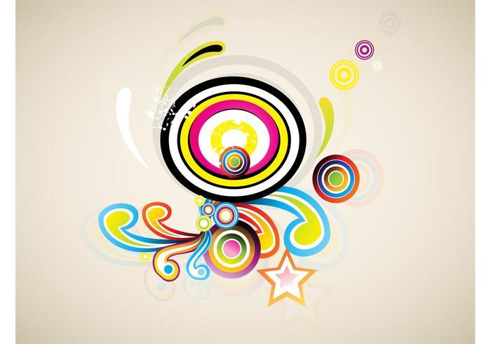 Colorful Retro Swirls