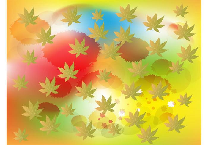 Leaf Splatter Background