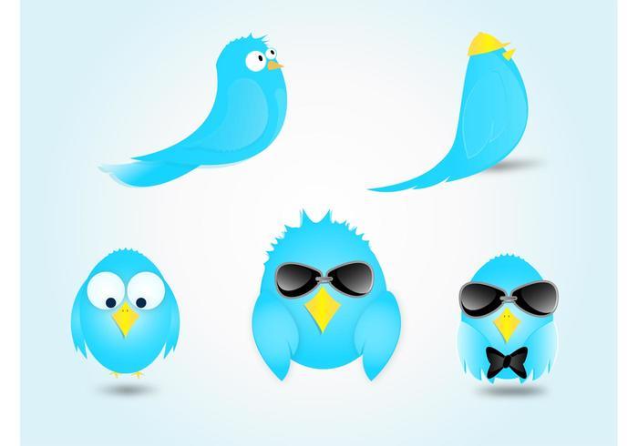 Twitter Bird Cartoon Vectors