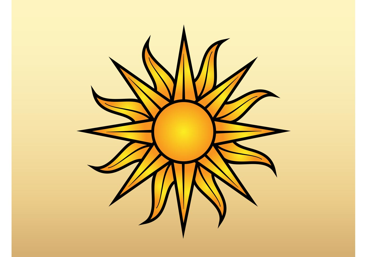 Sun Vector Graphic - Download Free Vector Art, Stock ...
