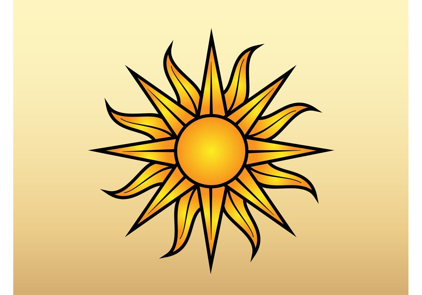sun vector graphic download free vector art stock