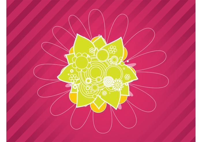 Pink Flower Design Background