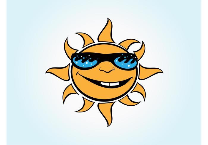 Vector Cartoon Sun