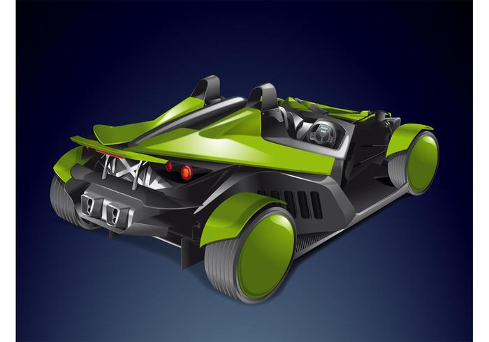 Roadster Race Car Vector