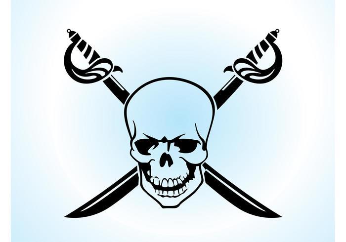 Skull Crossed Swords Vector
