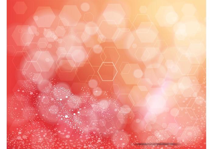 Orange Background Hexagon Design