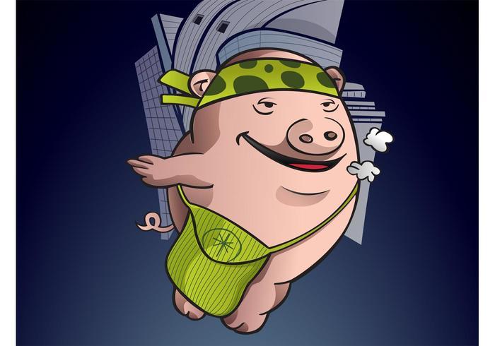 Urban Pig Cartoon