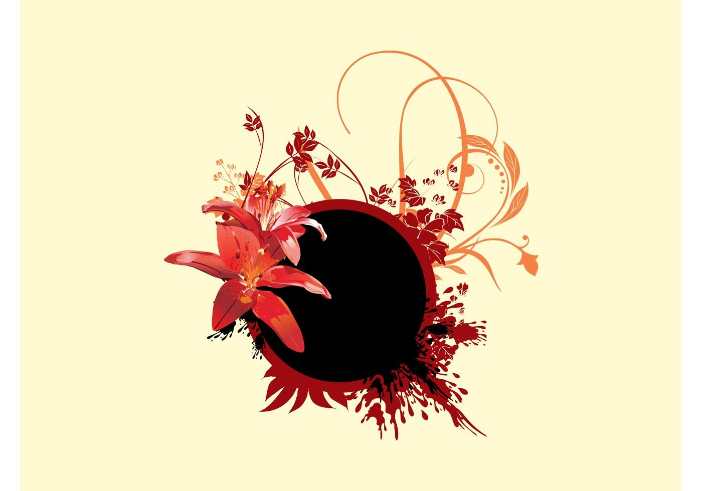 floral composition download free vector art stock. Black Bedroom Furniture Sets. Home Design Ideas