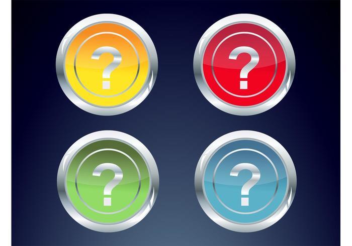 Vetores de marca de pergunta