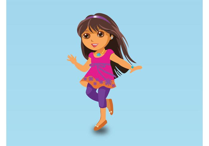 Dora Vector Cartoon
