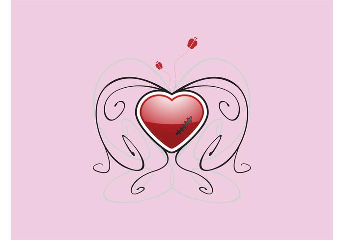 Wounded Heart Vector Design