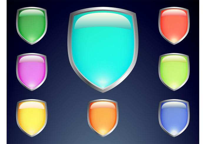 Colorful Shield Vectors