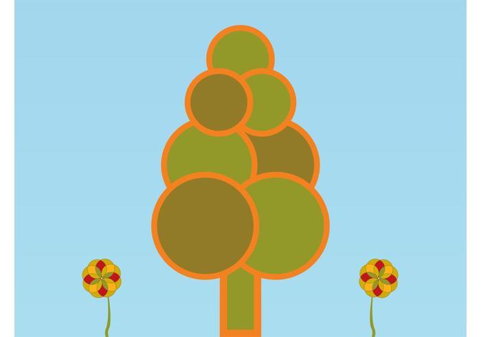 Minimal Forest Illustration