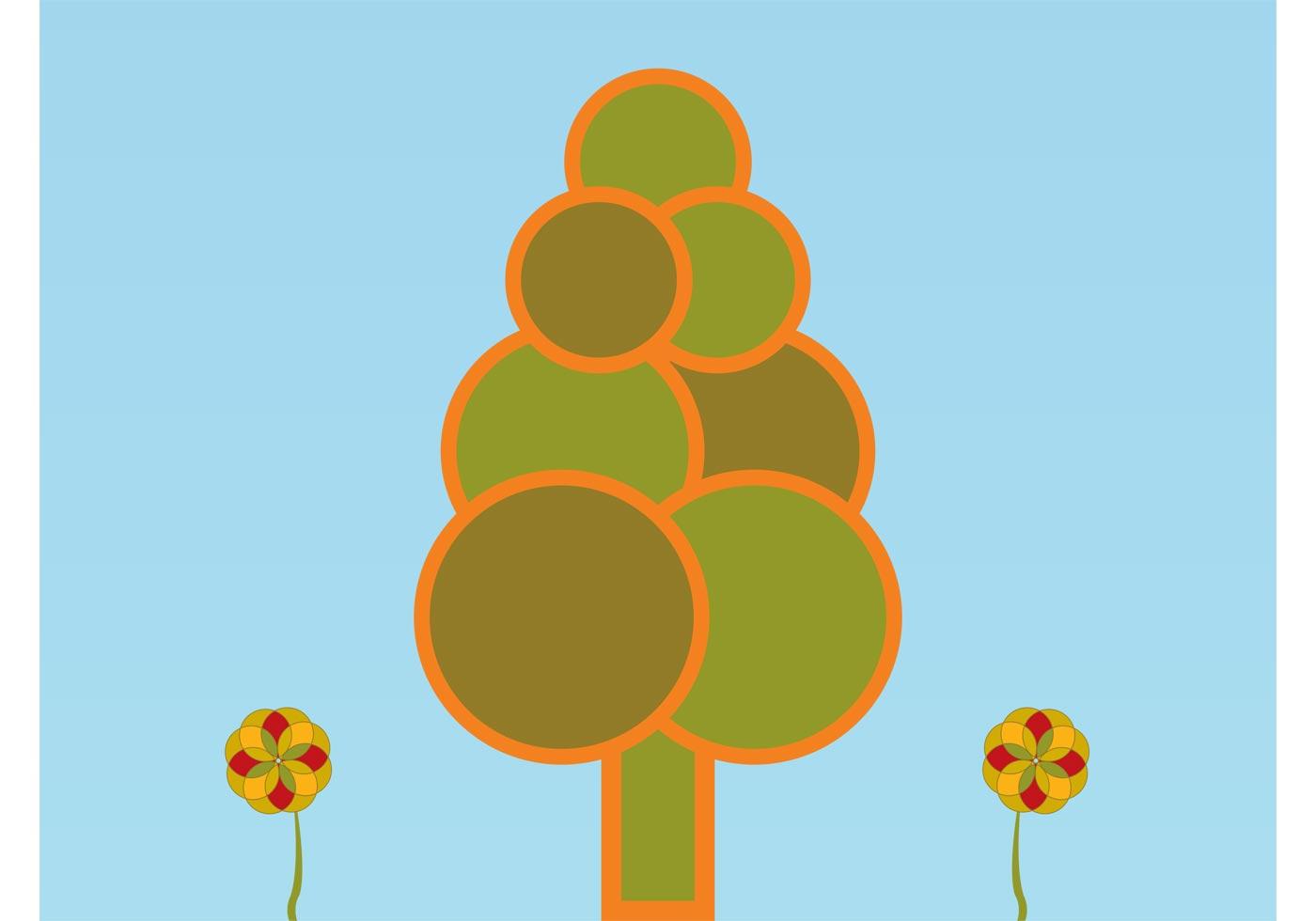 Minimal forest illustration download free vector art for Minimal art vector