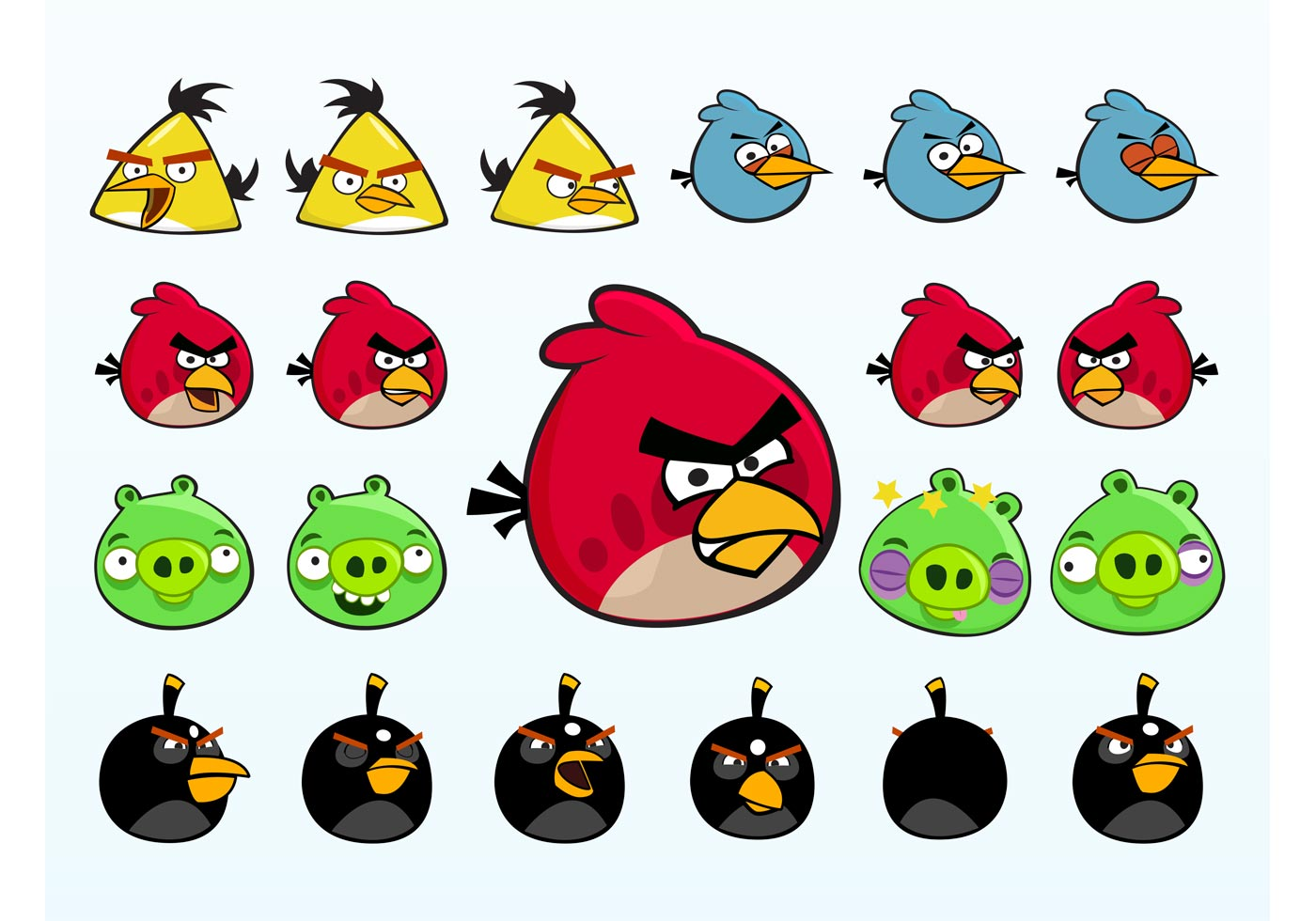 Angry Birds Characters Download Free Vectors Clipart