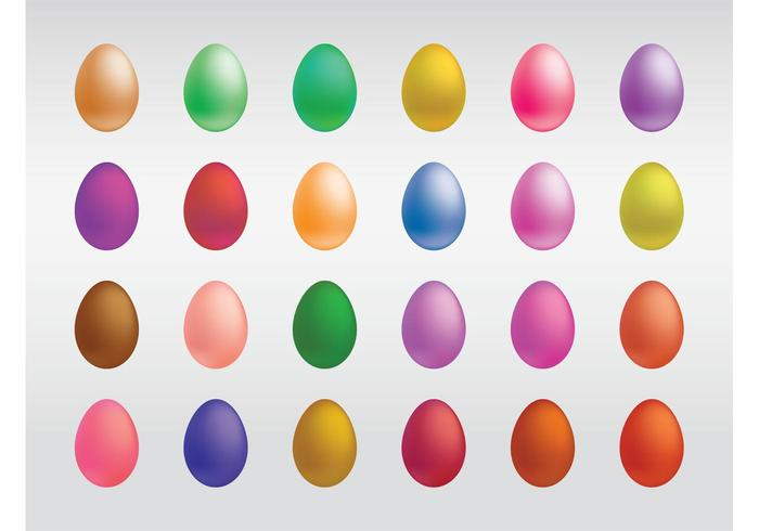 Colorful Eggs Vectors