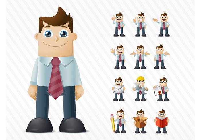 Happy Businessman Vector