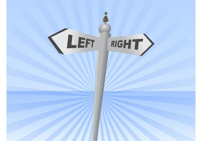 Links rechts Zeichen