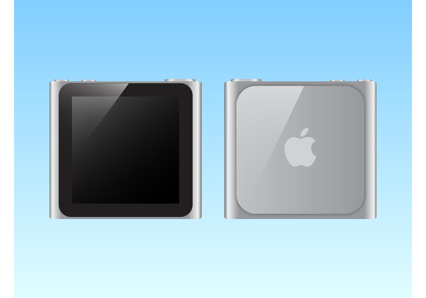 iPod Nano Silver - Download Free Vectors, Clipart Graphics ...