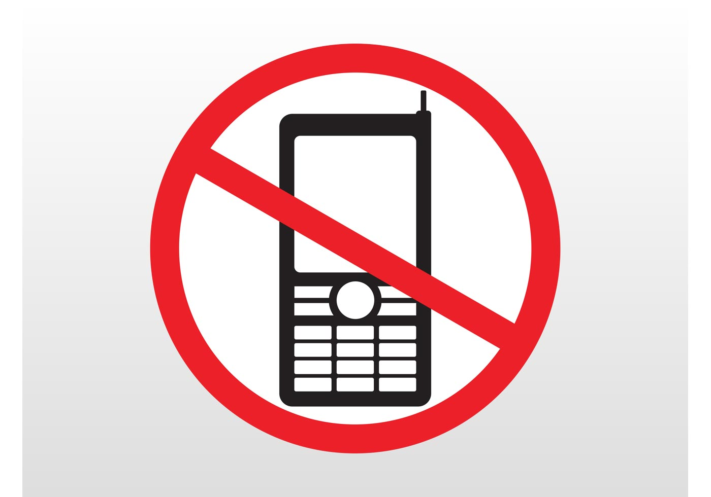 No Phones Sign - Download Free Vector Art, Stock Graphics ...