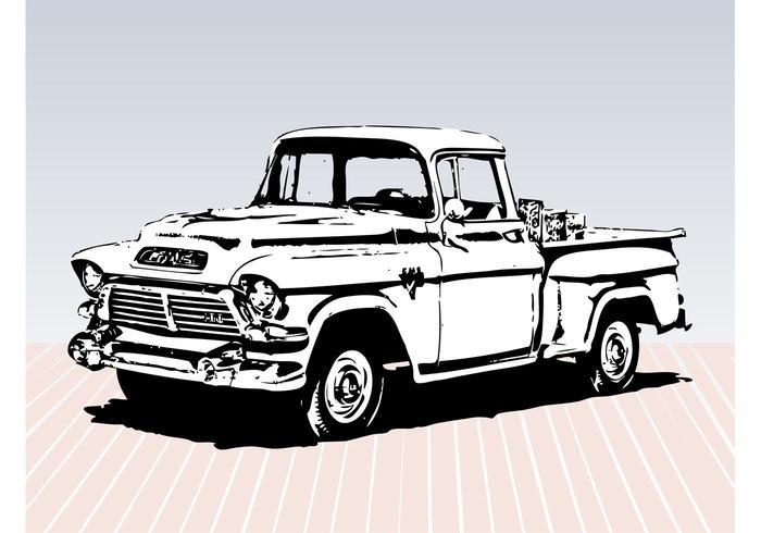 Esboço do caminhão velho