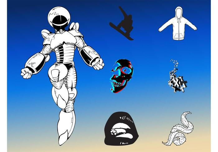 Pack robot futuriste