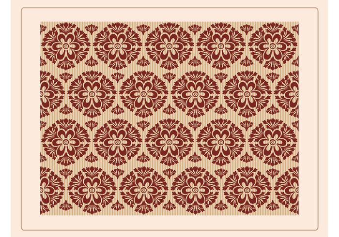 Floral Retro Wallpaper