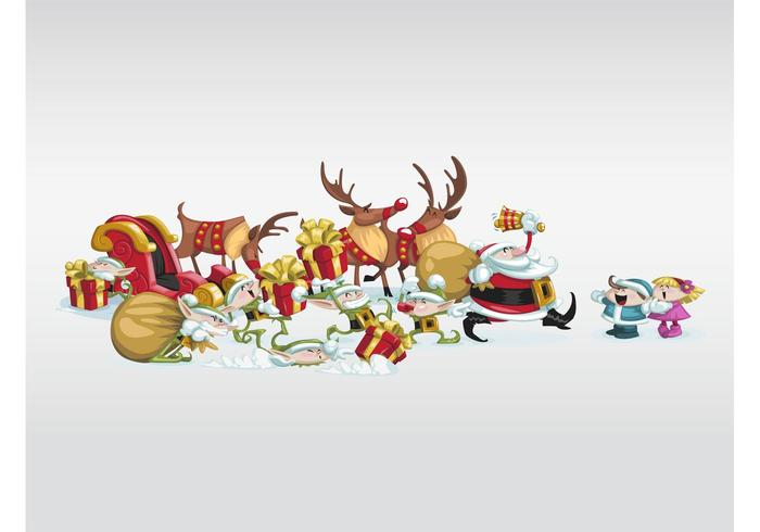 funny christmas characters download free vector art stock