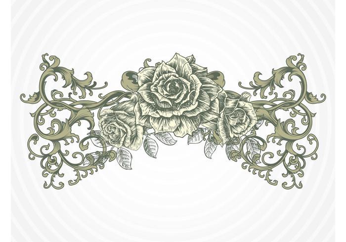 Antique Rose Vector