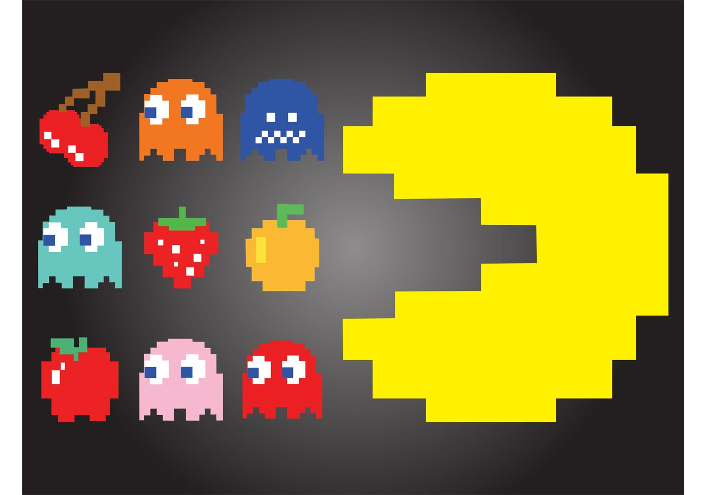 Pac Man Free Vector Art 8925 Free Downloads