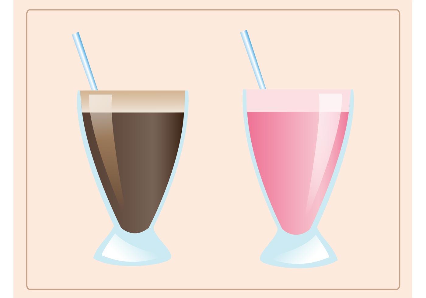 Chocolate Milkshake Free Vector Art 1262 Free Downloads