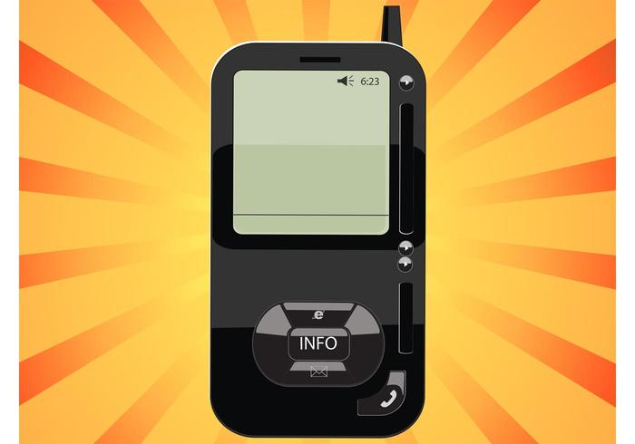 Black Phone Vector